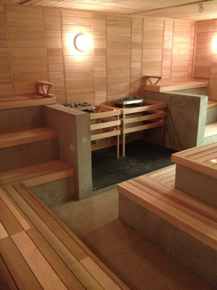 Sauna Fitness And Massage Room Spa In Cluj: Coed Sauna. Nice And Roomy Compared To The Tiny One In The