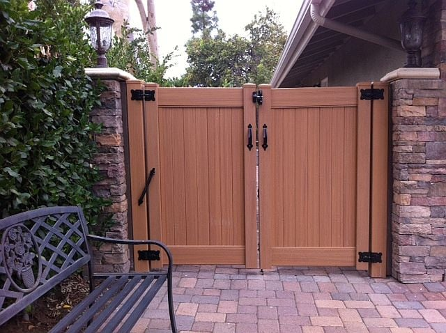 Wood grain fencing gates yelp for Budget fence and patio