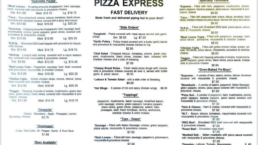 Pizza Express: 5534 Hwy 56, Chauvin, LA