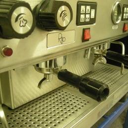 Two Group Traditional Espresso Machine At The Espresso