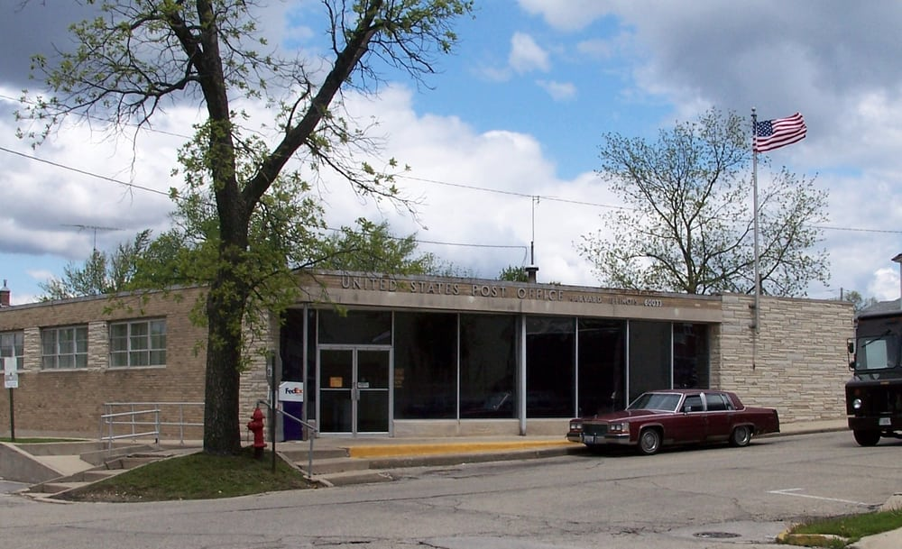 US Post Office - Harvard, Illinois 60033: 300 N Eastman, Harvard, IL