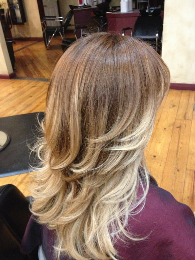Ombré light brown to light blonde | Yelp