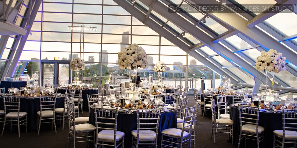 Modern wedding reception with unique centerpieces and for Table 52 chicago reviews