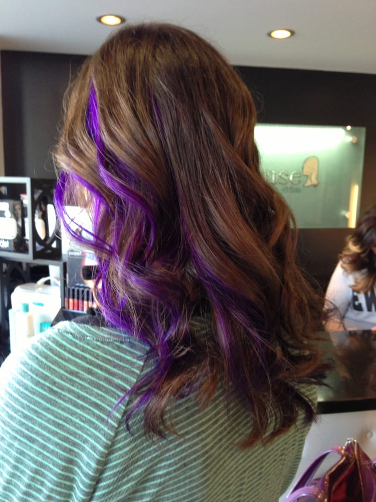 Purple Peekaboos By Rachael Love My Hair Yelp