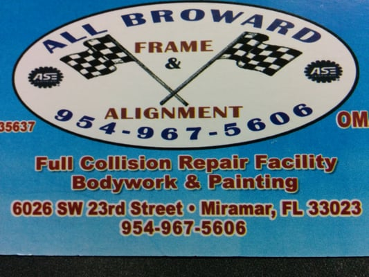 photo of all broward frame alignment miramar fl united states