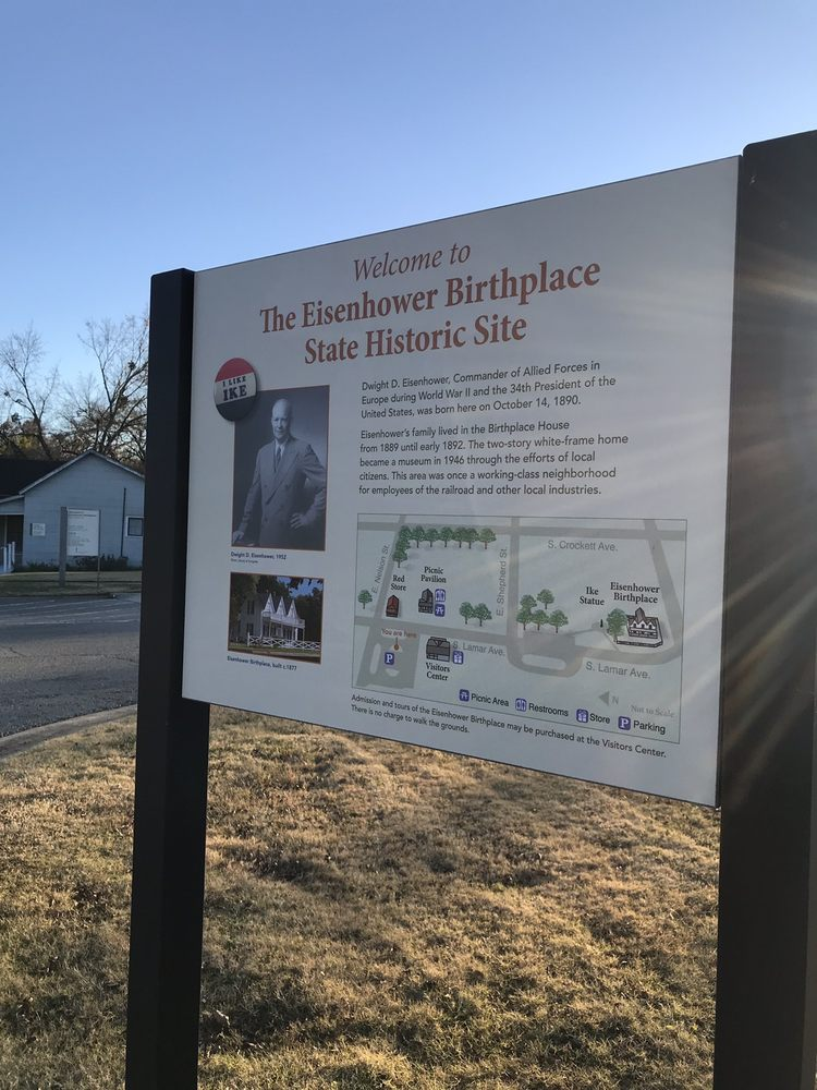 Eisenhower Birthplace Historic Site: 609 S Lamar Ave, Denison, TX