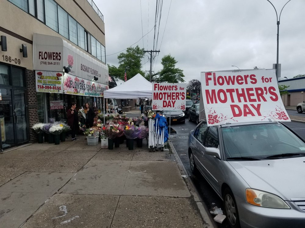 Bosmat Flowers: 18611 Union Tpke, Fresh Meadows, NY