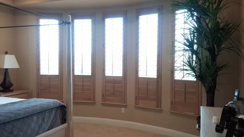Wood shutters are versatile providing privacy below while for Window fashions of texas