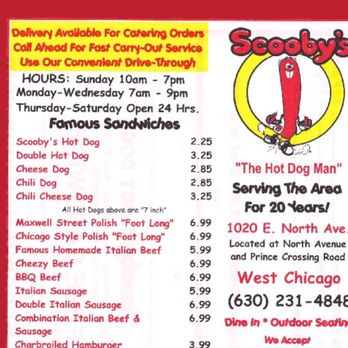 Scooby S Hot Dogs West Chicago Il