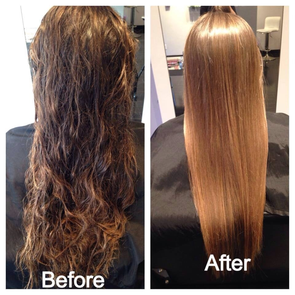 New keratin glycolic smoothing treatment by crystal yelp - Salon straightening treatments ...