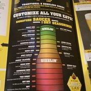buffalo wild wings sauce chart