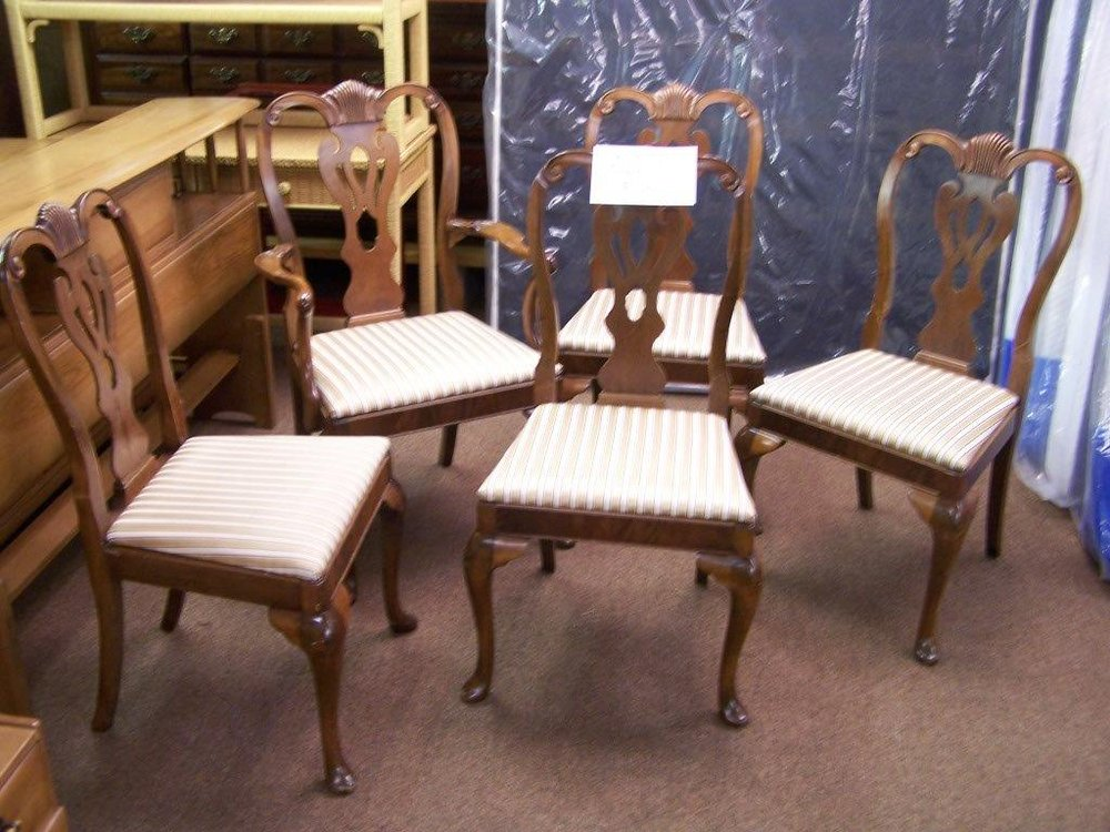 Five Striped Dining Room Chairs $225 - Yelp