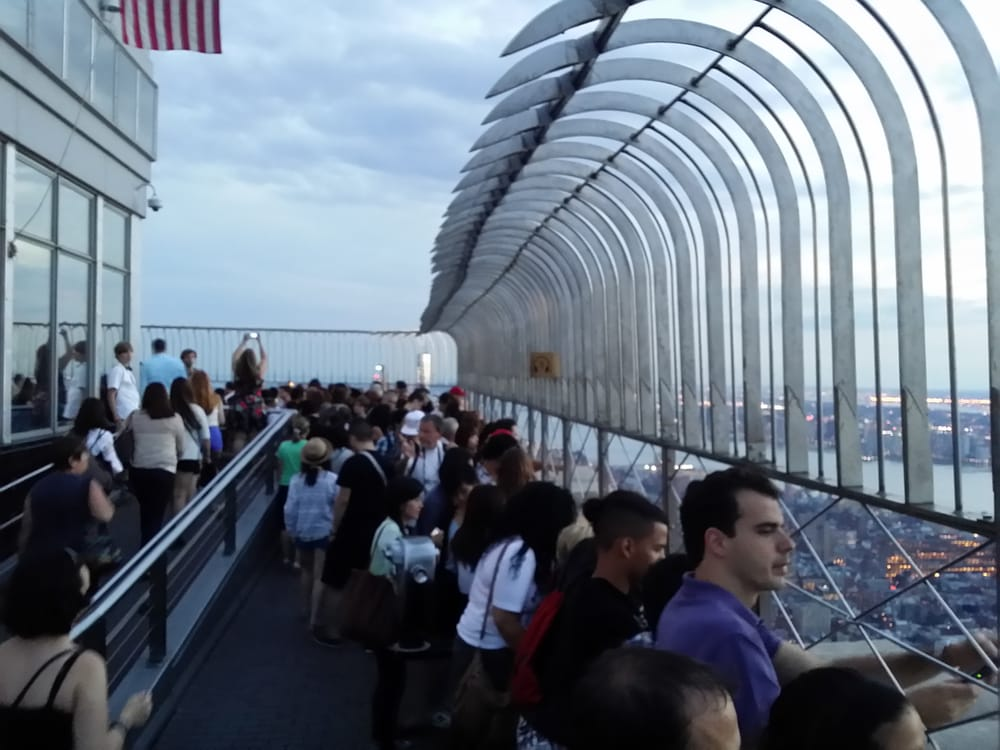 Crowds At Top Observation Deck 86th Floor Yelp