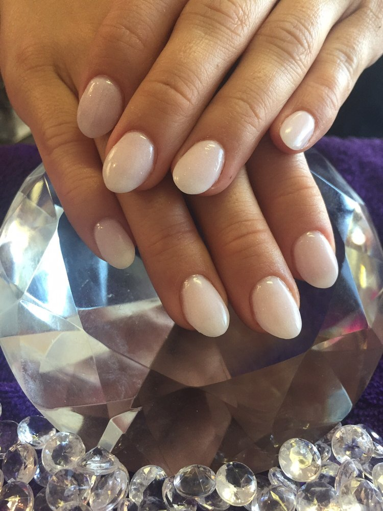 Their SNS or dip powder in a color similar to funny bunny by OPI ...