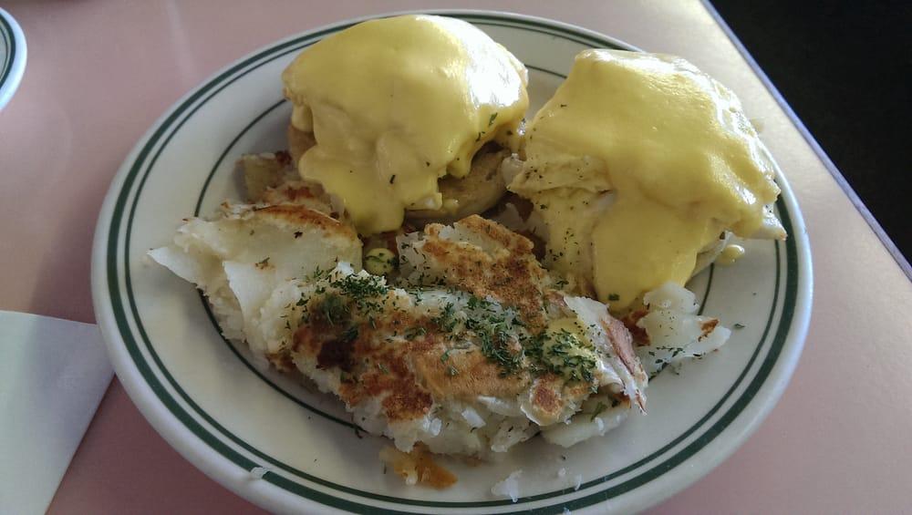 Seafood eggs benedict. $11.99. - Yelp