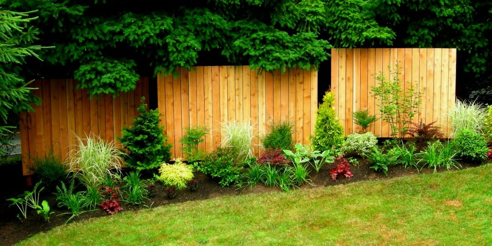 edmonds client wanted to reduce road noise and add visual interest to a side yard fence panels. Black Bedroom Furniture Sets. Home Design Ideas