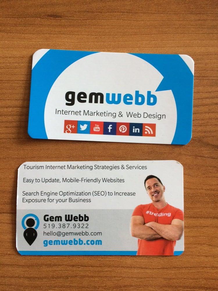 Owen Sound Web Design and Internet Marketing business card - Yelp