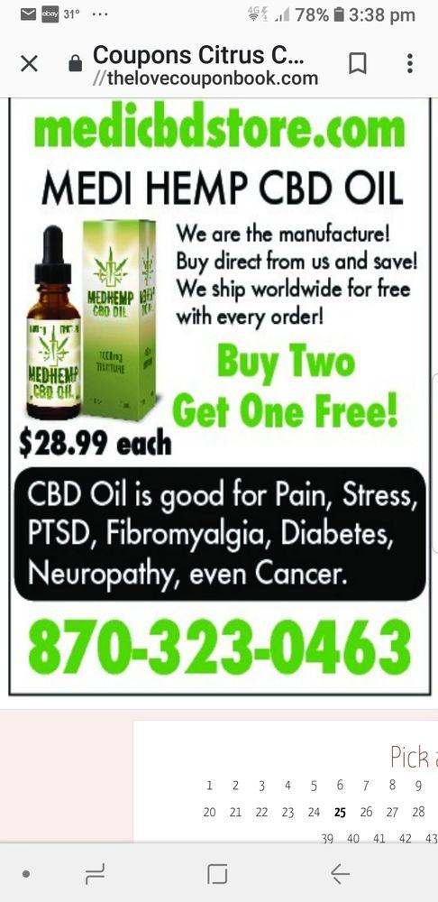 Medi CBD Store: 400 N Oak St, Campbell, MO