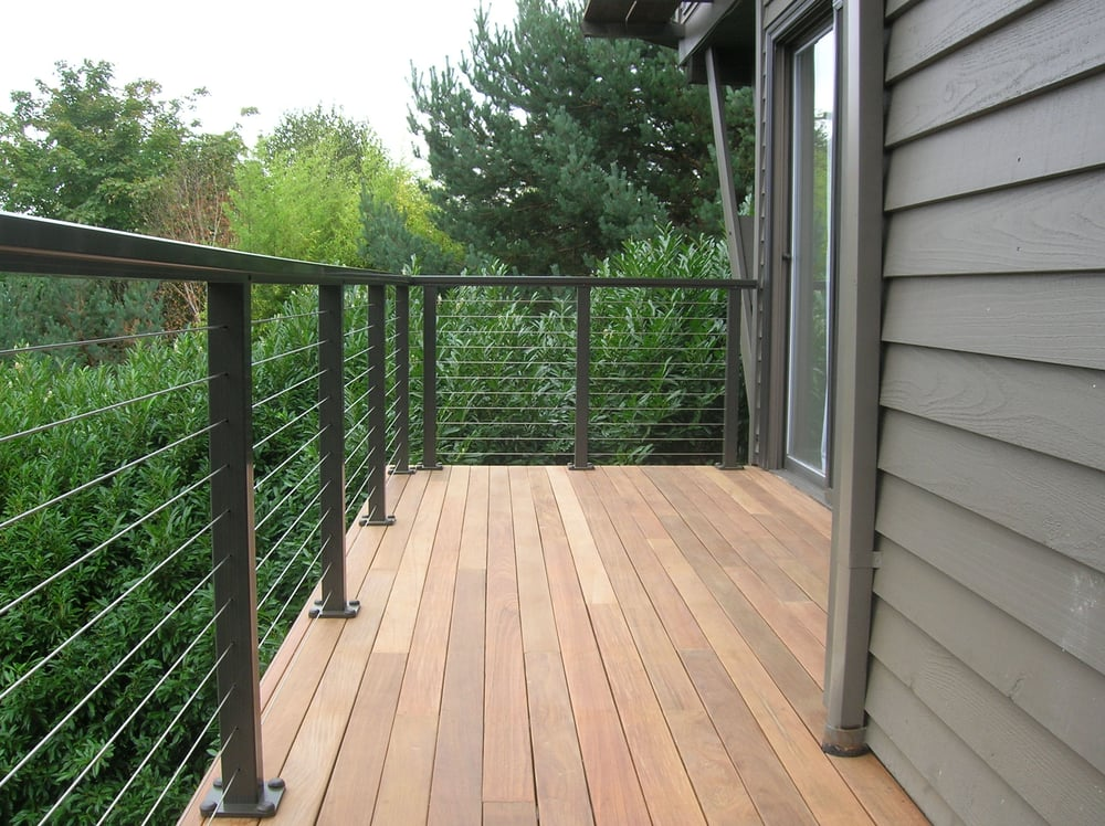 Cable Railing On Ipe Deck In Portland Oregon Yelp