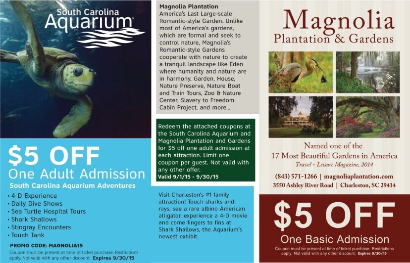 Magnolia plantation discount coupons