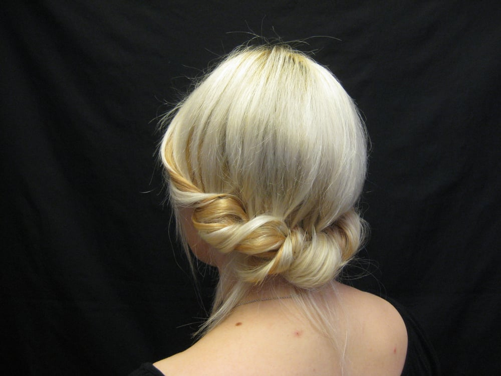 Cute and simple updo yelp for Olivier salon