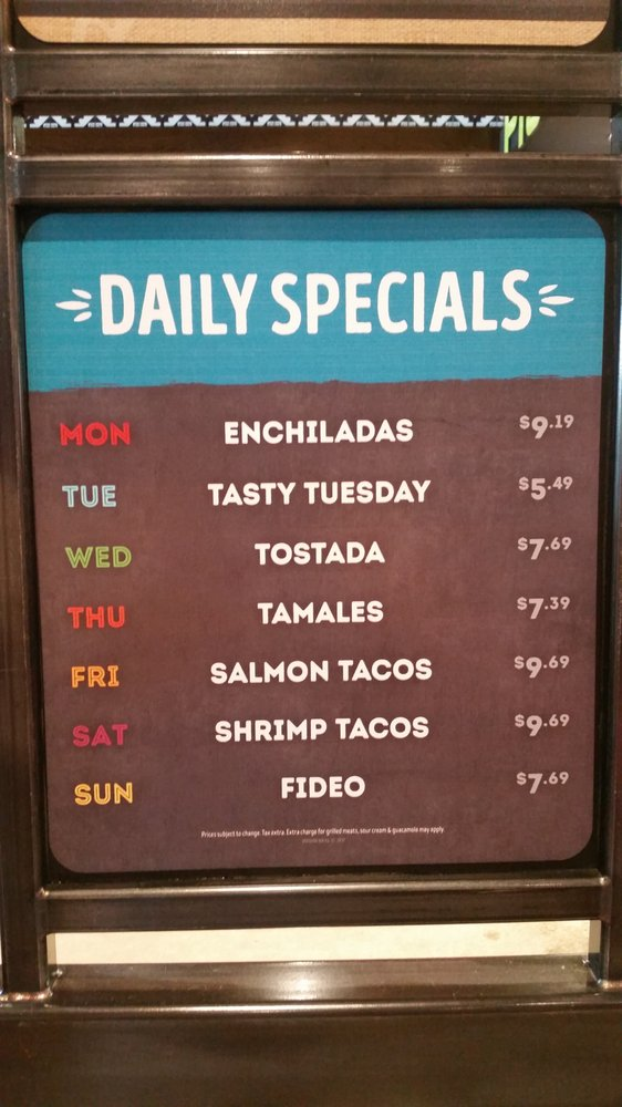 Daily Specials - Yelp