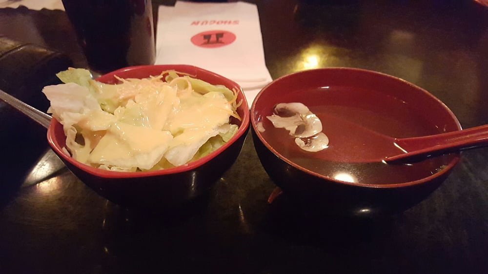 The salad and soup typical hibachi quality yelp - Shogun japanese cuisine ...