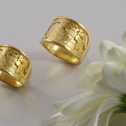 Photo Of Michael Drechsler Jewelry Ltd   Vancouver, BC, Canada. World Map  Rings