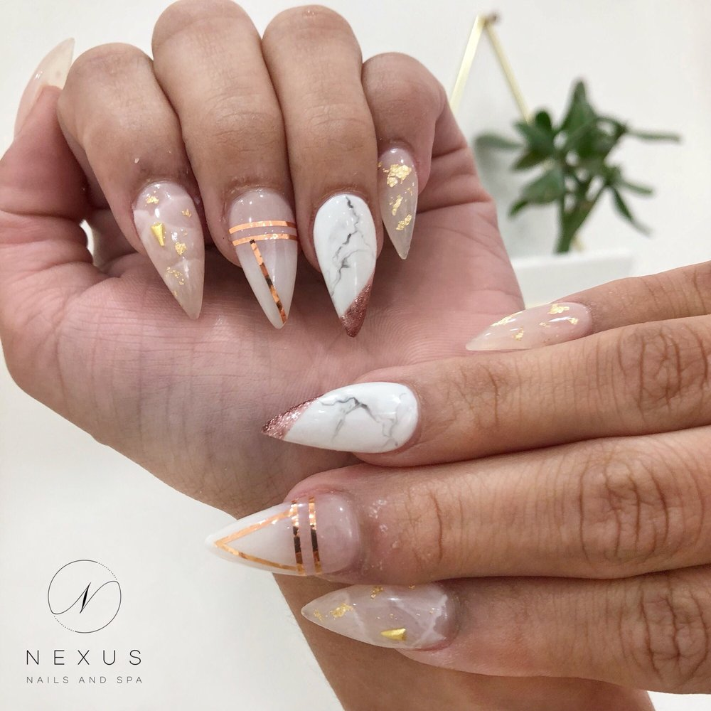 Photo Of Nexus Nails And Spa Anaheim Ca United States Marble Gold