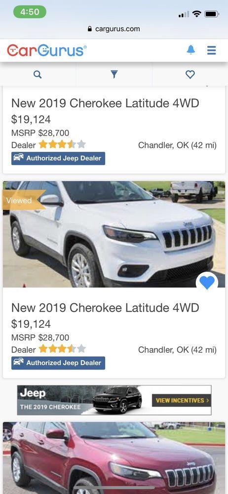 Patriot Chrysler Dodge Jeep Ram: 104 Industrial Rd, Chandler, OK