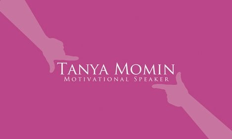 Business card design for tanya momin the motivational speaker yelp photo of dynamite printing port hueneme ca united states business card design colourmoves