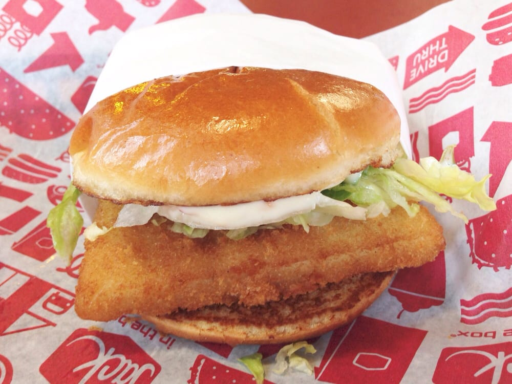 Fish sandwich yelp for Jack in the box fish