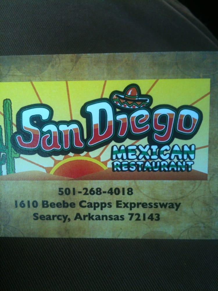 San Diego Mexican Restaurant Searcy Ar