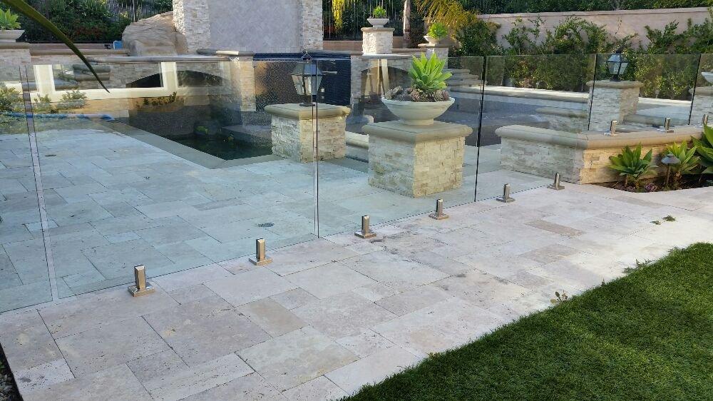 Glass Wall With Heavy Brackets Around The Pool Aliso Viejo Yelp