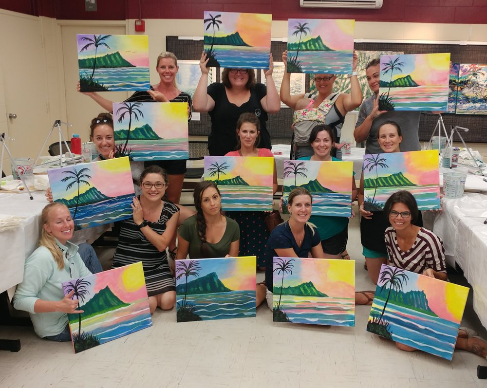 Private paint party hickam airforce base yelp for Private paint party