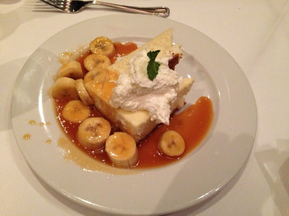 Banana fosters cheesecake with caramel sauce yelp for Fish sauce caramel