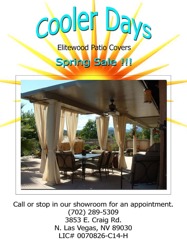 Cooler Days Patio Covers 702 289 5309 Yelp
