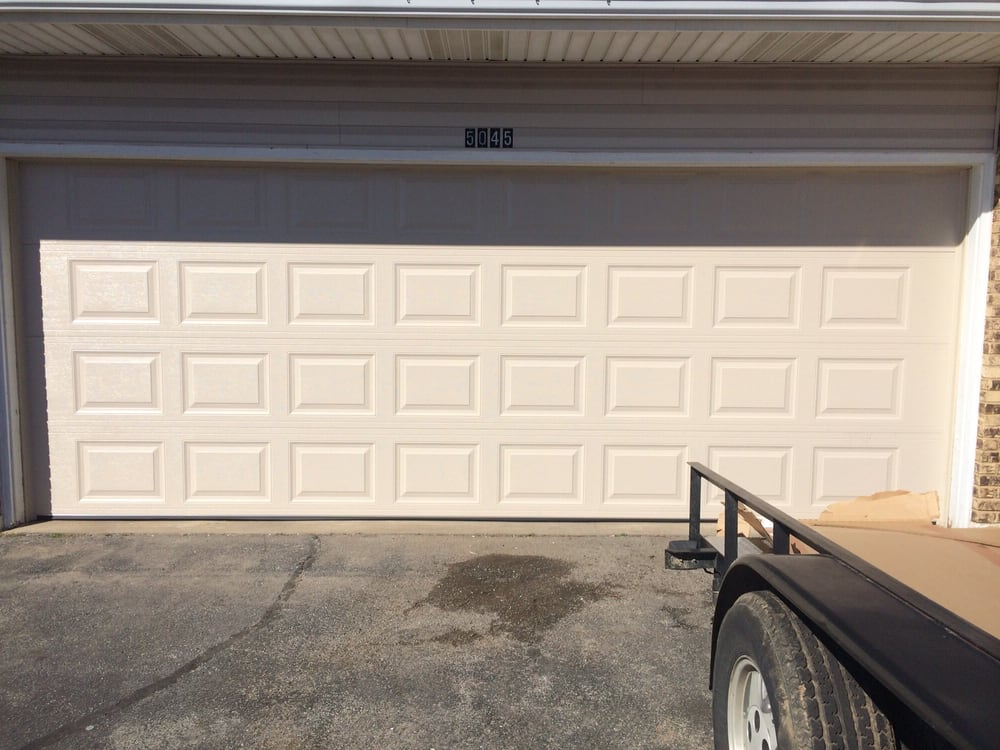 The Garage Door Is A 16 X 7 Double Back Steel And The Color Is