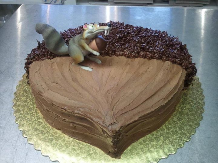ice age squirrel and acorn cake  yelp
