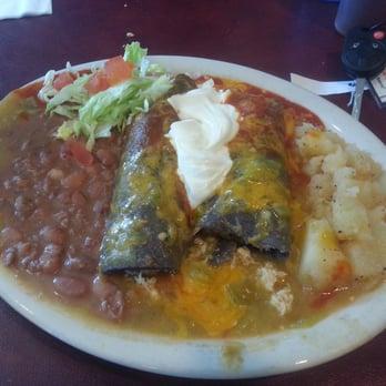 Photo Of El Patio De Albuquerque   Albuquerque, NM, United States.  Christmas Enchiladas