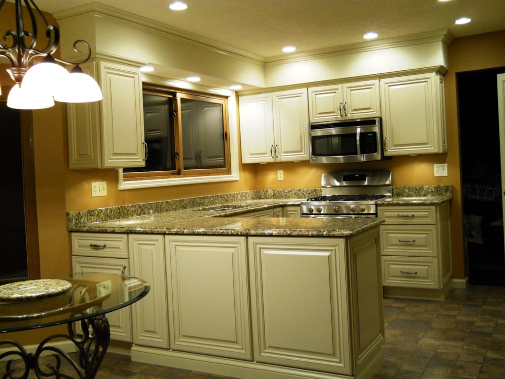 used kitchen cabinets st louis after glazed white cabinets granite countertops and new 27858