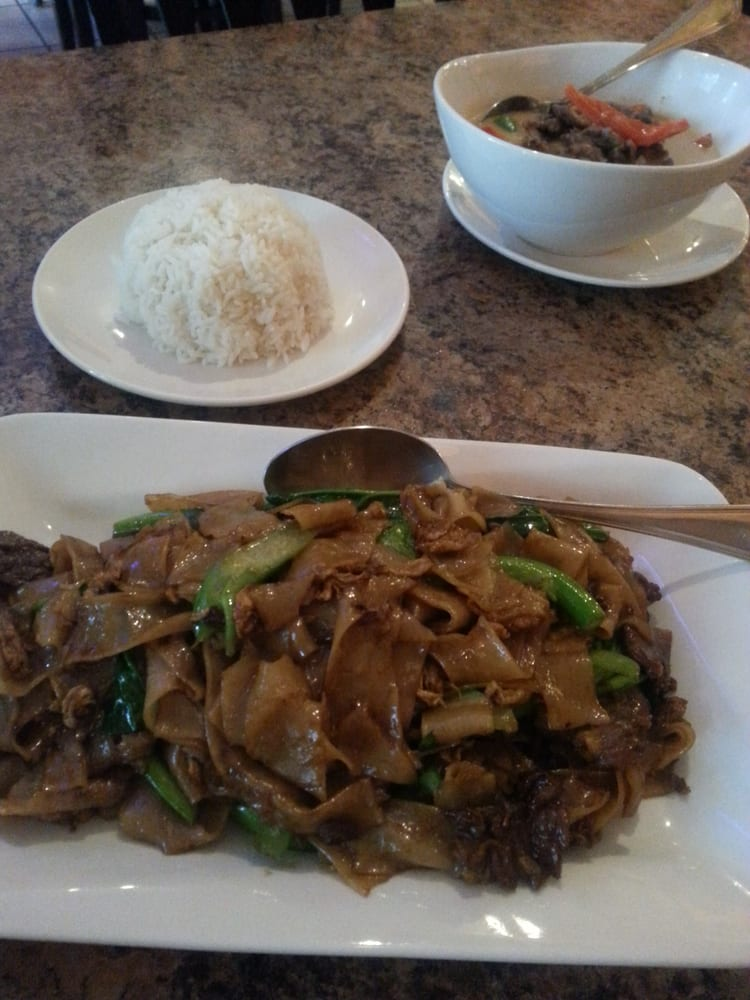 Pad see ew with beef yelp for Arawan thai cuisine menu