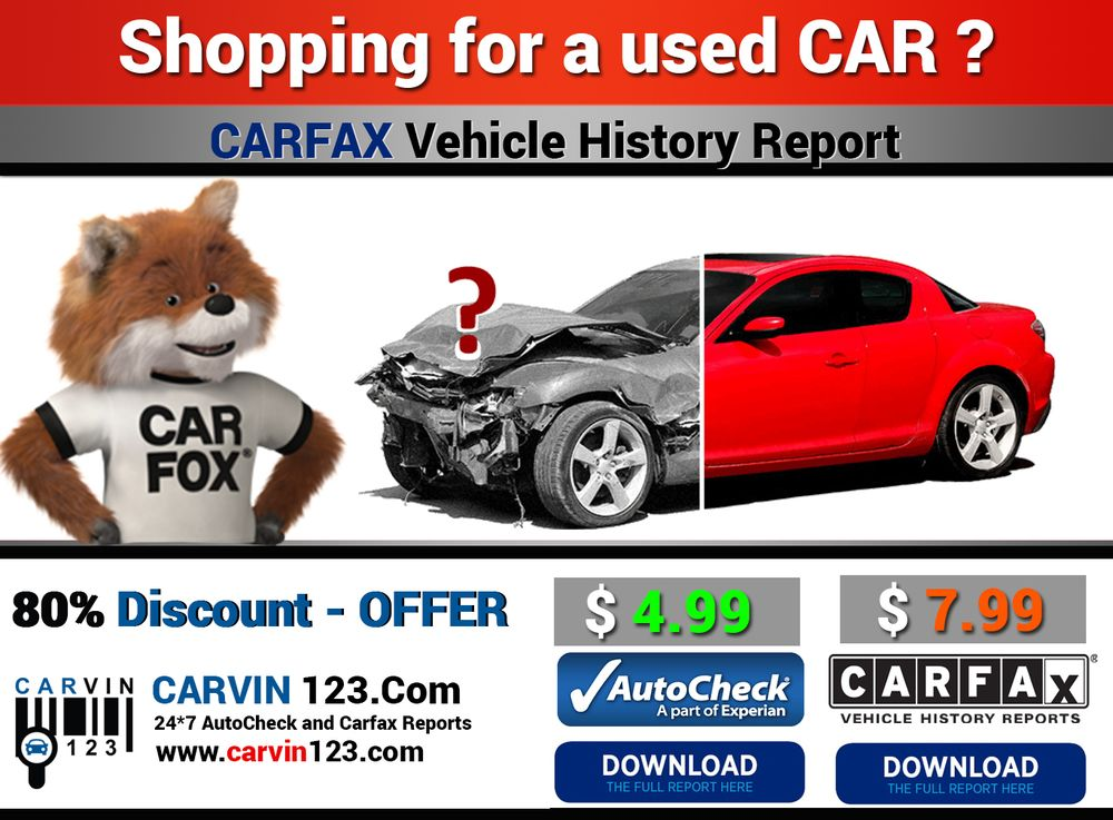 Carfax Autocheck Car Vin Number Auto Check History Report Cheap ...