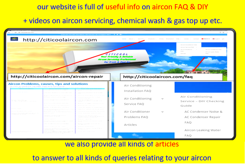 best aircon company website with full of educational contents for