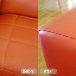 Photo Of Fibrenew North Naples   Fort Myers, FL, United States. Pet Damage.  Pet Damage Leather Furniture Repair