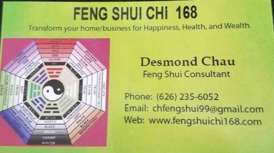Feng Shui Chi 168: Alhambra, CA