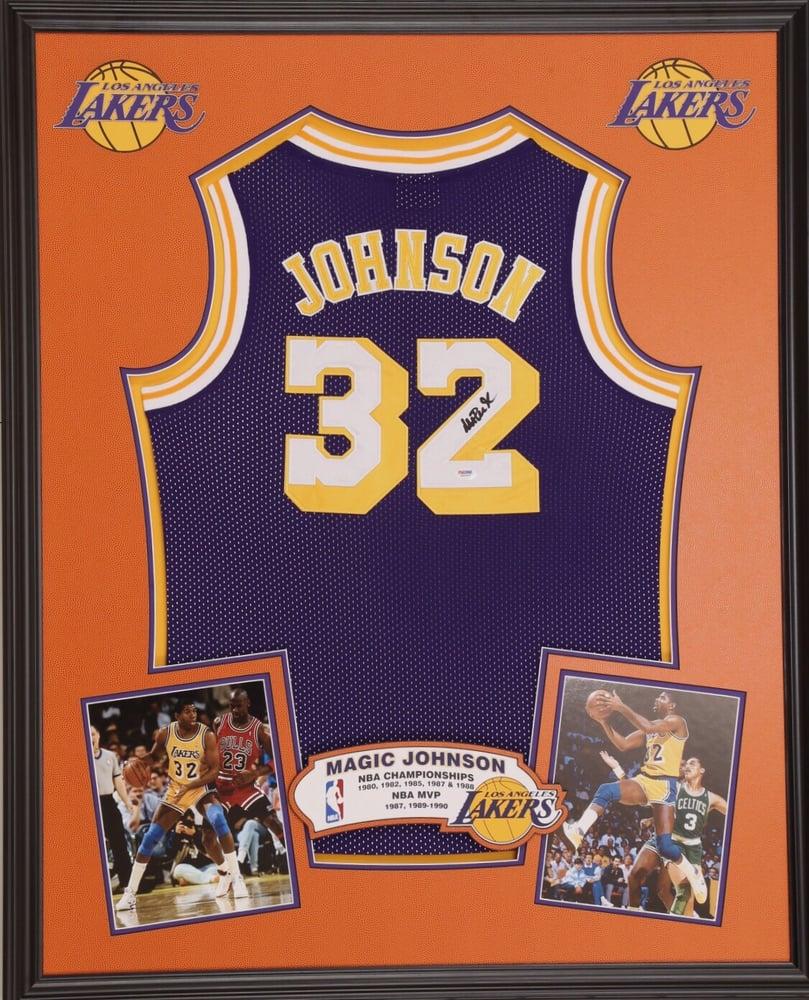 best website ec251 5a539 Magic Johnson framed jersey - Yelp