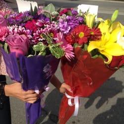 Photo Of Franco Florist Montebello Ca United States Purple And Colorful Bouquets