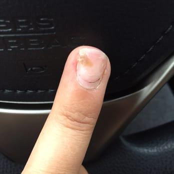 Beautiful long natural nails babe scratching and filing 10