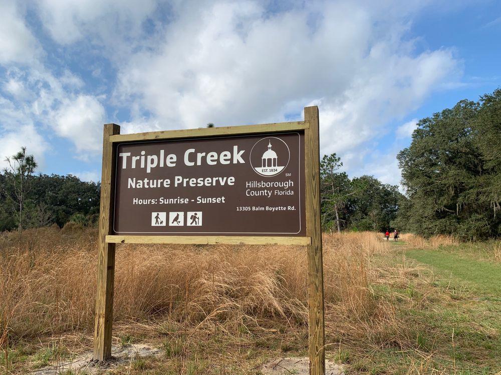 Triple Creek Nature Preserve: 13305 Balm Boyette Rd, Riverview, FL